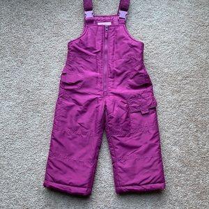 OshKosh Bgosh purple girls snow bibs
